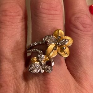 Exquisite Woman's 925 sterling Silver two tone